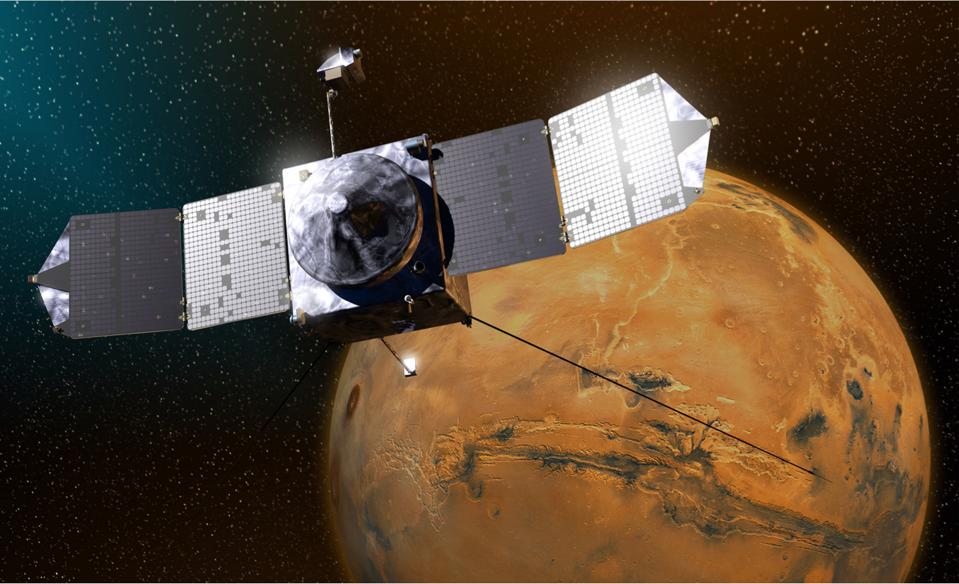 NASA's MAVEN spacecraft is just one of numerous active Red Planet orbiters.