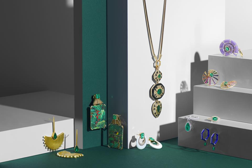 The collection showcases 10 contemporary jewelry designers