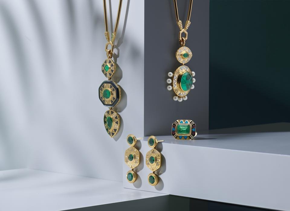 Harwell Godfrey's collection is called Cleopatra's Vault and is inspired by the queen and her legendary jewels.