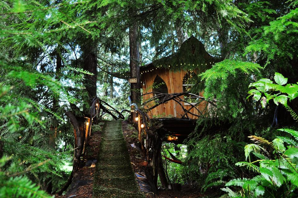 The Treehouse Joint sits on four acres in the lush Snohomish County area of Washington. It also happens to be a cannabis-friendly resort.