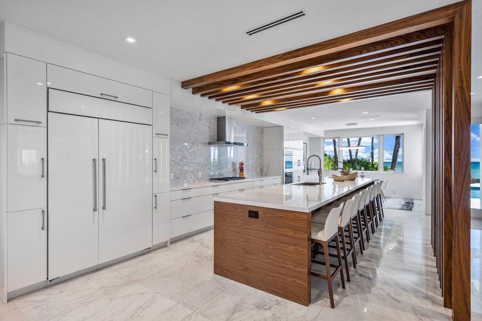Sammy Sosa, Florida, luxury, contemporary, kitchen, design, beachfront, ocean, Compass