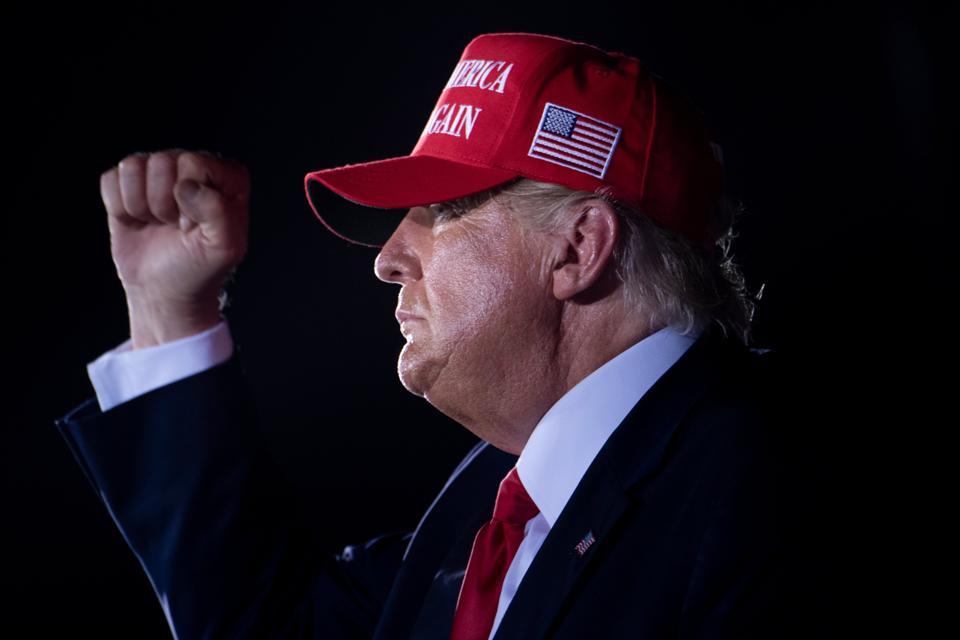 Donald Trump raising fist
