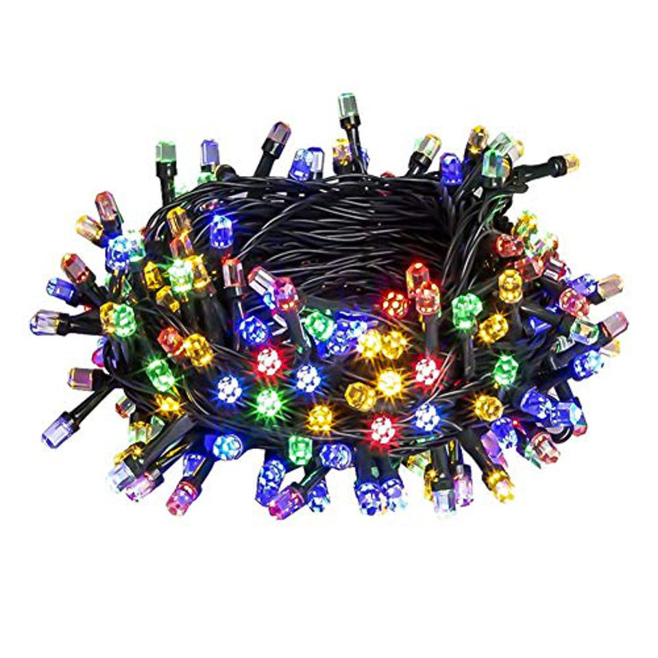 colored holiday lights