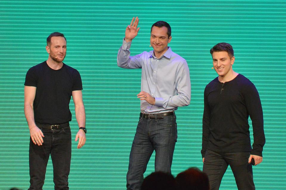 Chief Product Officer Joe Gebbia, CTO Nathan Blecharczyk and CEO Brian Chesky