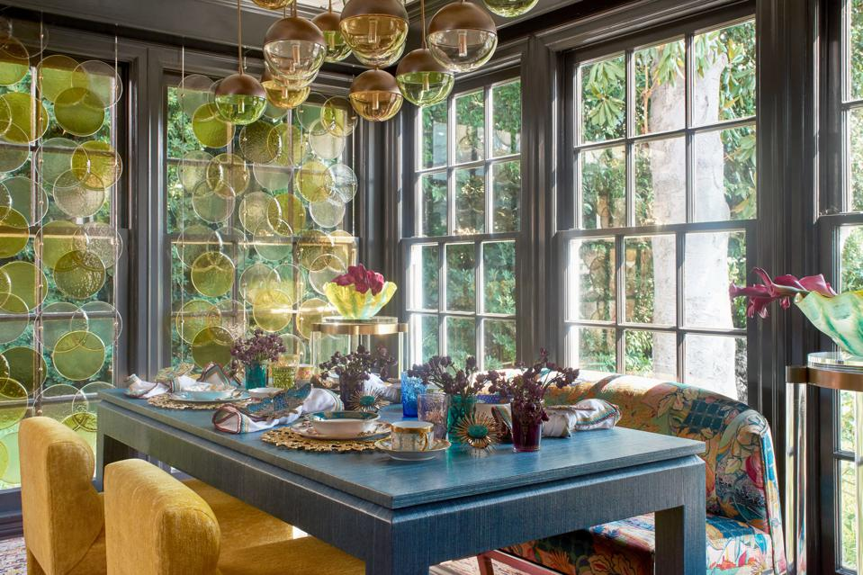 Dining space in showcase home by Jeanne Khoe Chung