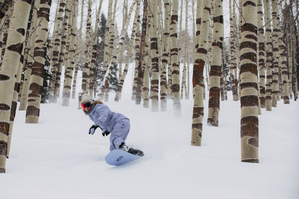 Anna Gasser rides in new Burton snowboarding film One World in Utah.