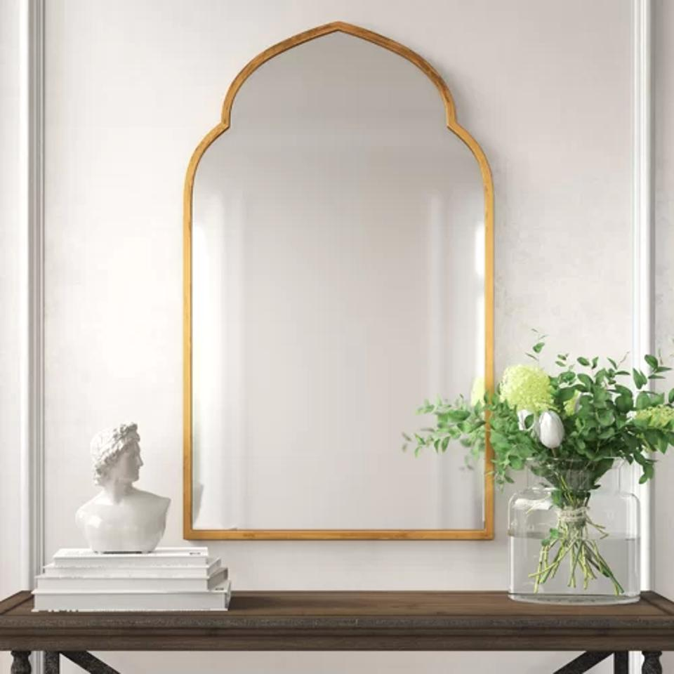 Glam Distressed Accent Mirror