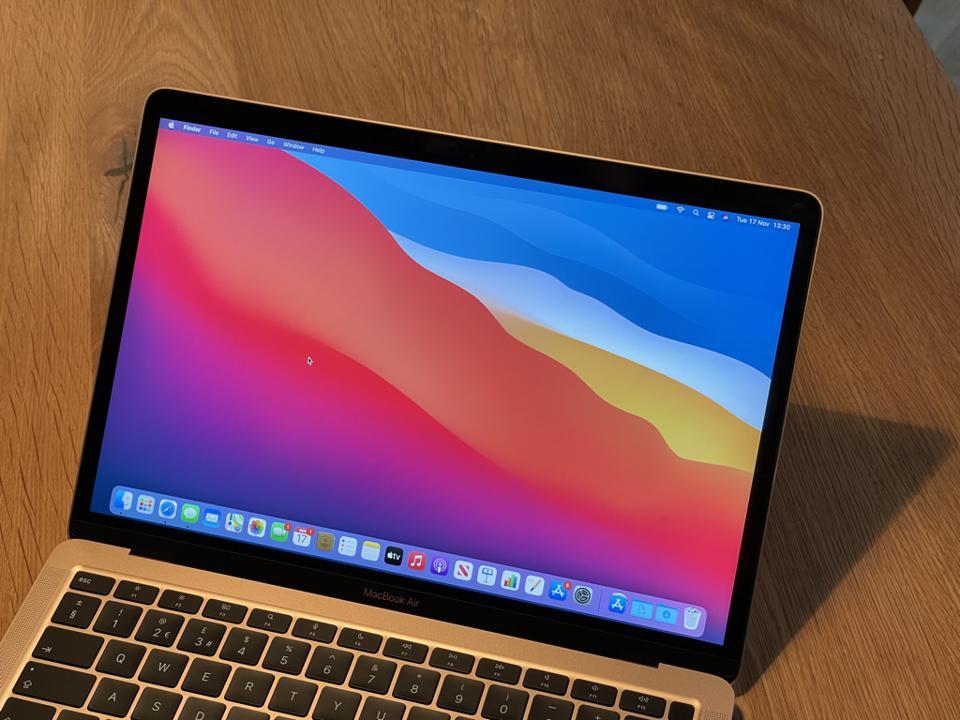 Apple MacBook Air with macOS Big Sur.