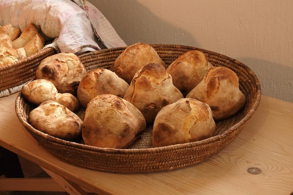 Italy. Sardinia. home made bread