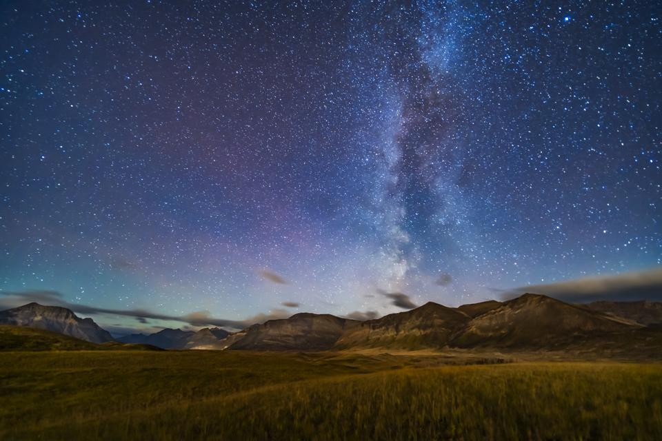 Moonstrike at Waterton Lakes dark sky park stars