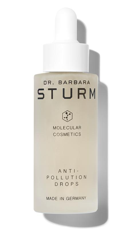 Courtesy of Dr. Barbara Sturm  Dr. Barbara Sturm Anti-Pollution Drops ($145) strengthen and calm skin while also providing protection from damaging HEV blue light.
