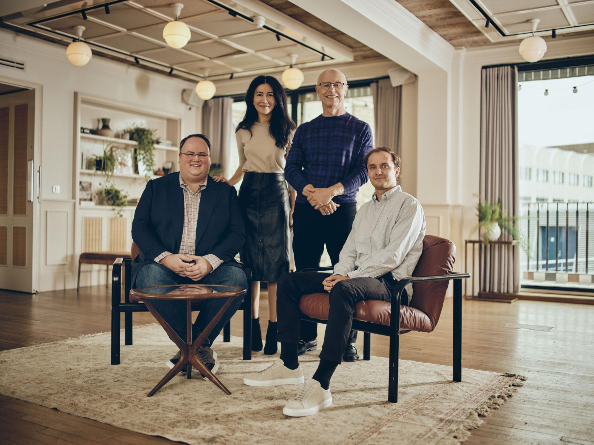 Sequoia investors Matt Miller, Luciana Lixandru, Doug Leone and George Mason.