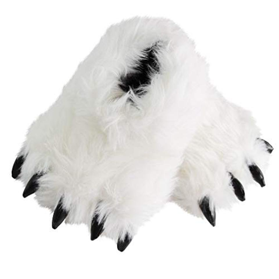 Fuzzy Bear Claw Slippers