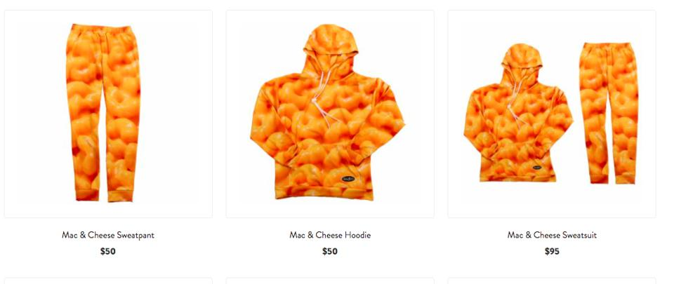 Mac & Cheese merch from the Stouffer's shop