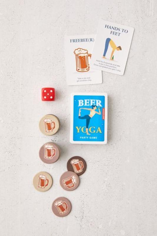 Beer Yoga white elephant gift idea