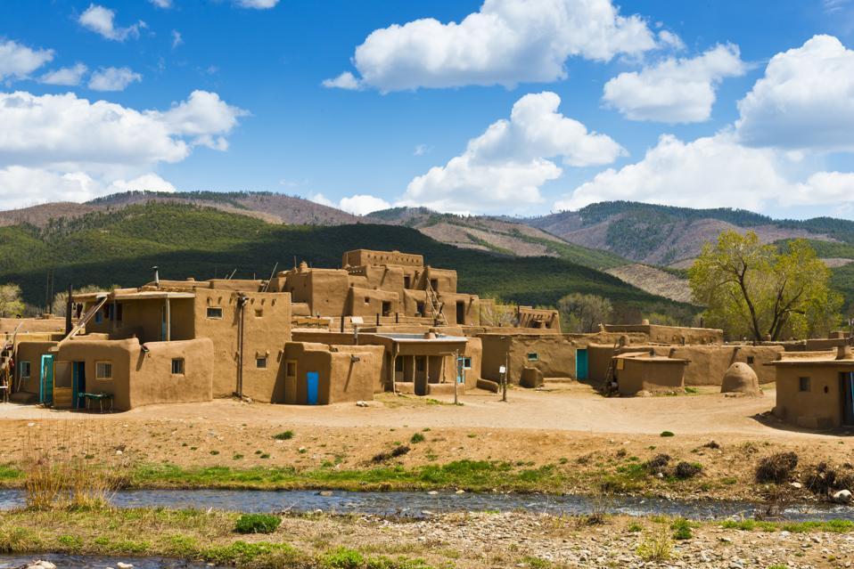 World's Best Destinations, National Geographic: Adobe Architecture Taos Pueblo, New Mexico