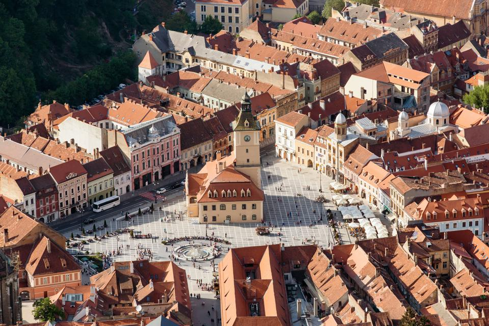 World's Best Destinations, National Geographic: Brasov, a gateway city to the wildflower meadows and wooded mountains of rural Transylvania.