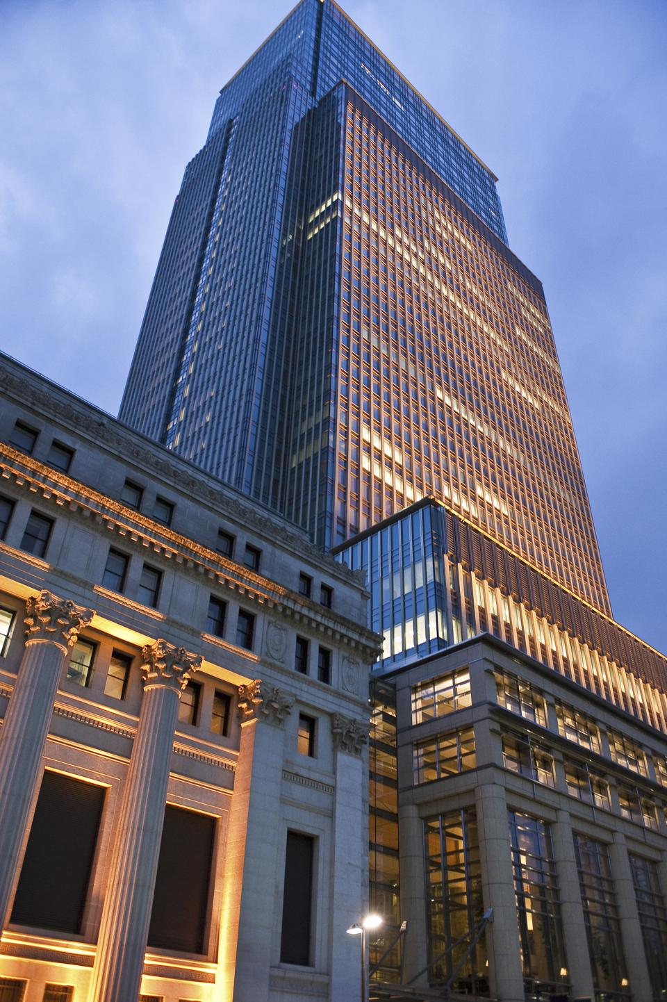 Nihonbashi Mitsui Tower in Tokyo hosts the family history museum of the 300 year old Mitsui family
