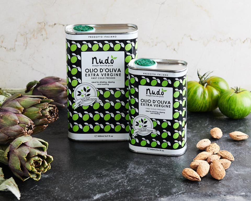 Two jars of Italian olive oil from Nudo Adopt