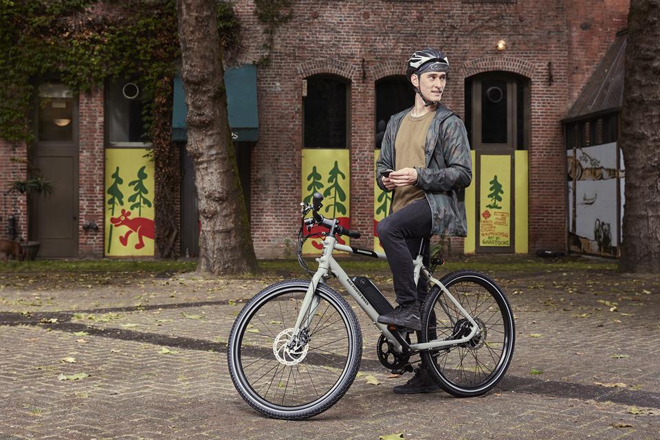 Man on Rad Power e-bike