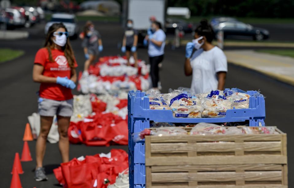 Food Distribution During Coronavirus COVID-19 Pandemic