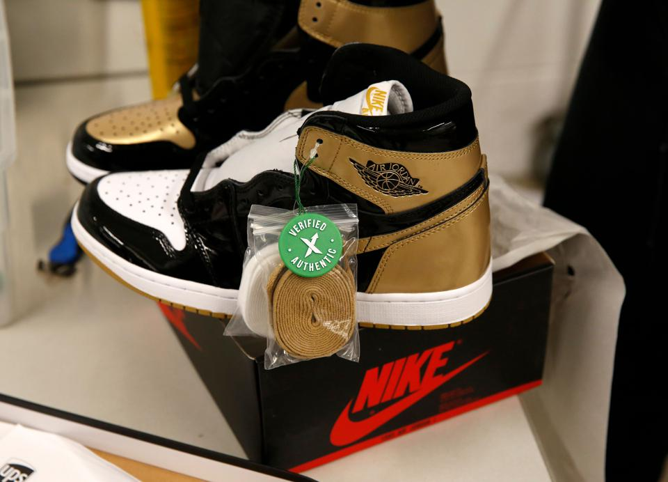 Air Jordan 1 Retro sneakers, one of the brands carried by Stock X.