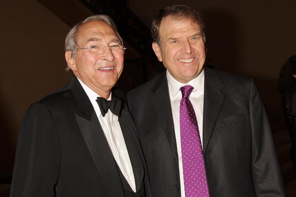 Sheldon Solow (left) with fellow real estate billionaire Richard LeFrak (right).