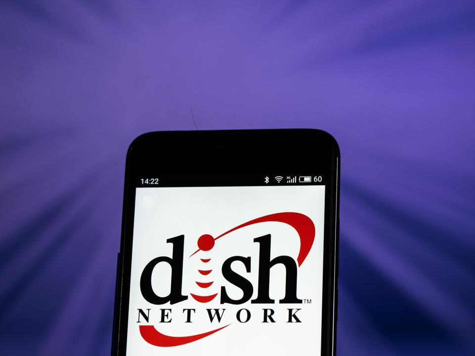 Dish Network Satellite television company logo seen