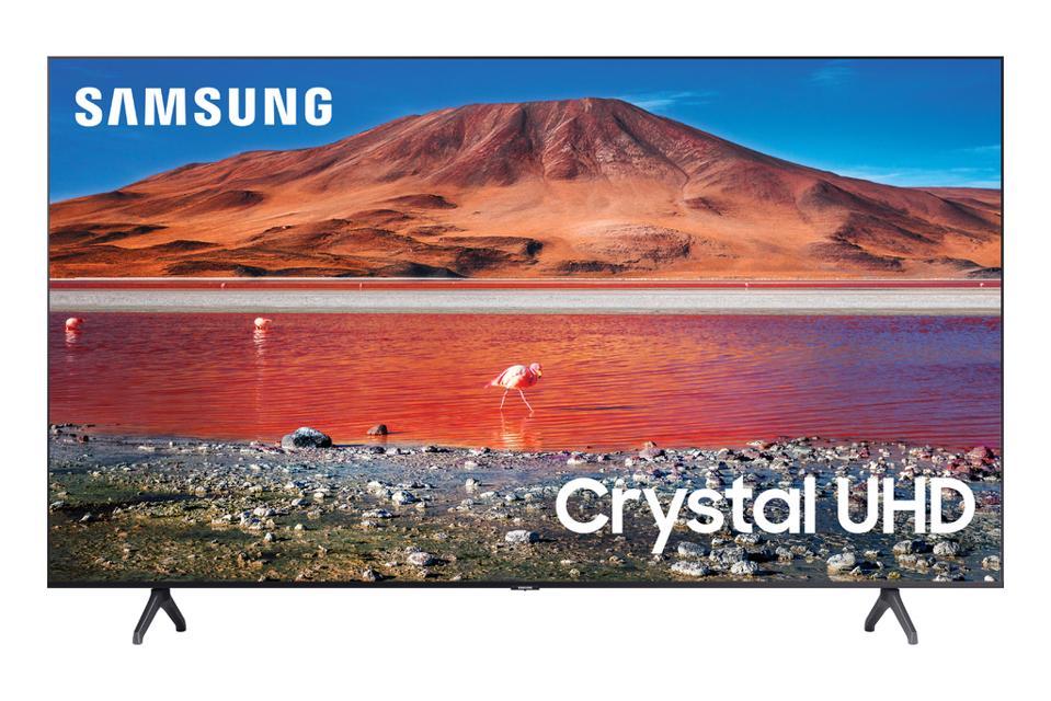 SAMSUNG 65″ Class 4K Crystal UHD (2160P) LED Smart TV with HDR UN65TU7000 2020