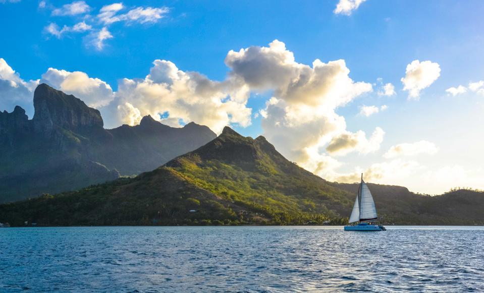 Sailing the seas Bora Bora French Polynesia travel tourism COVID