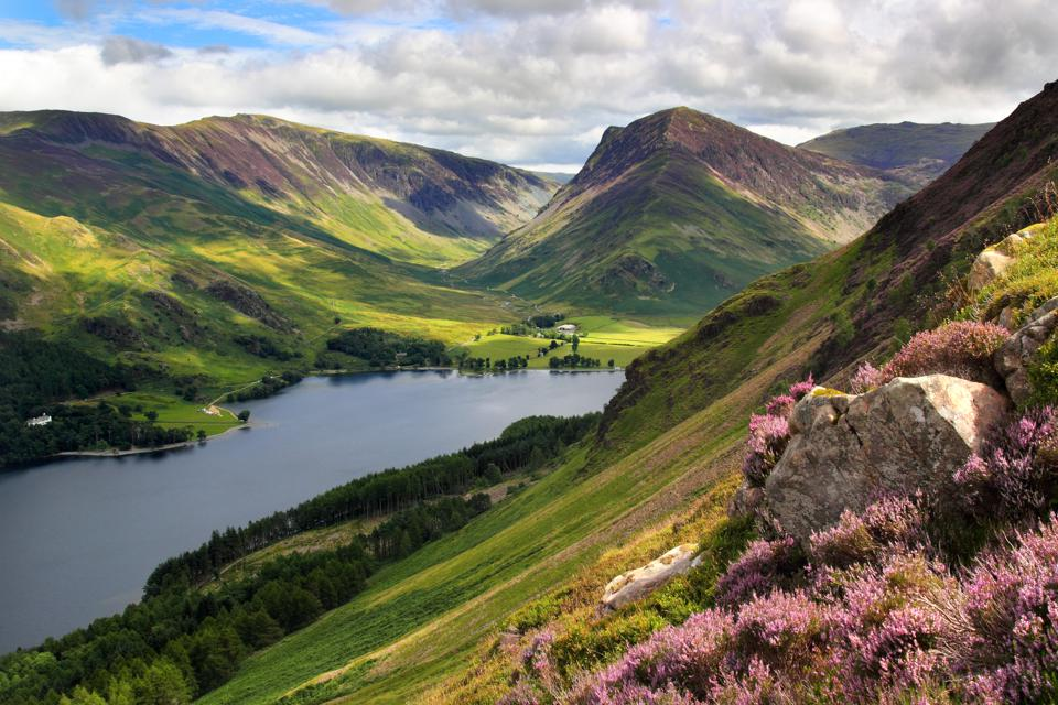 Buttermere and Fleetwith Pike Cumbria lake district England tourism COVID quarantine