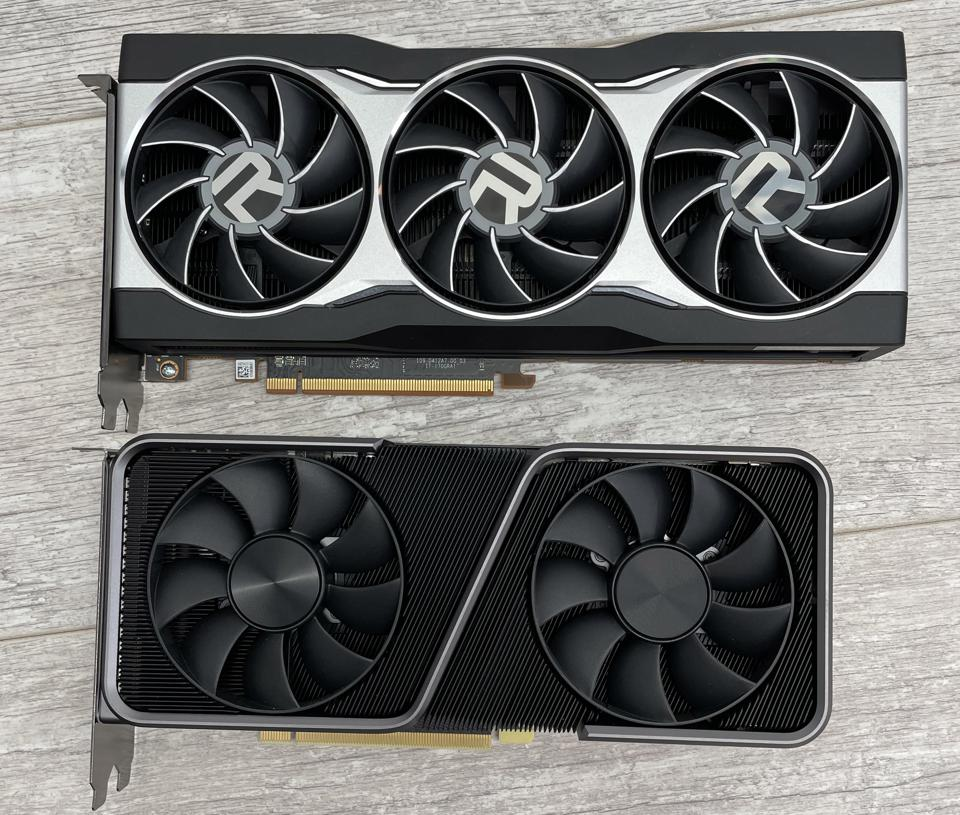 AMD's RX 6800 and Nvidia's RTX 3070 - the latter is noticeably smaller