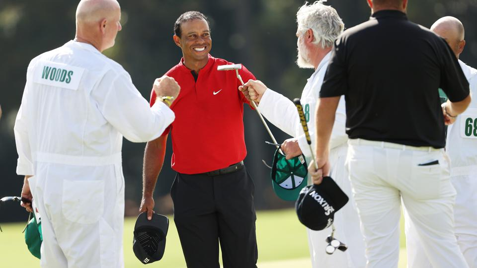 Tiger Woods during the final round of the Masters.