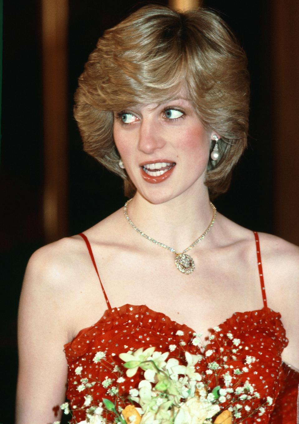 Diana At Opera red dress