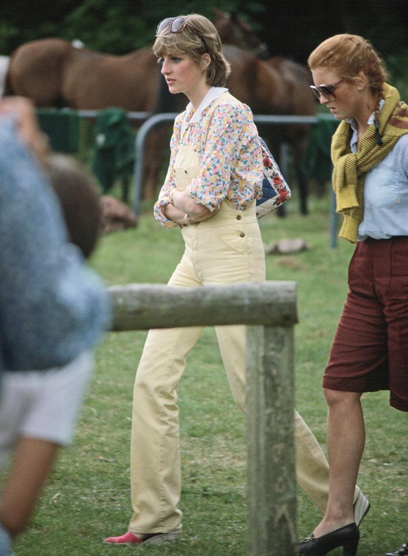 Lady Diana Spencer And Sarah Ferguson yellow dungarteees