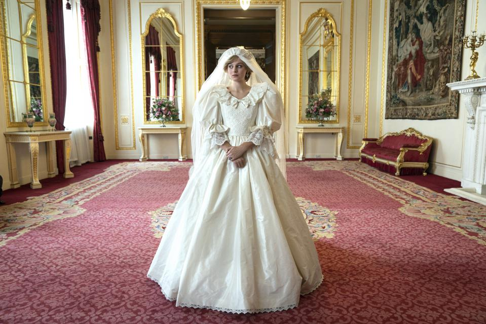 The Crown's near-perfect replica of Princess Diana's wedding dress