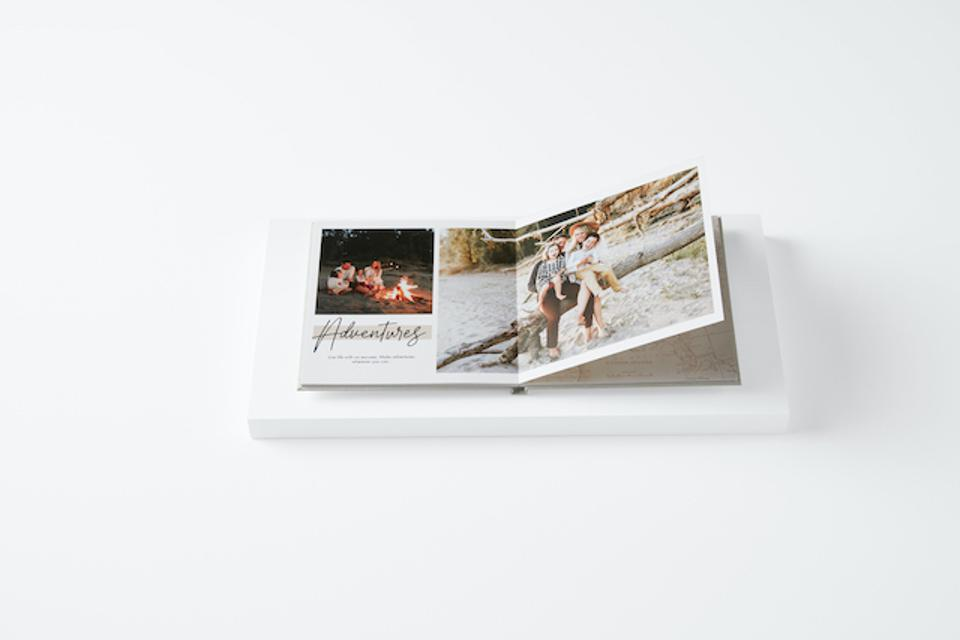 A layflat photo book from Shutterfly
