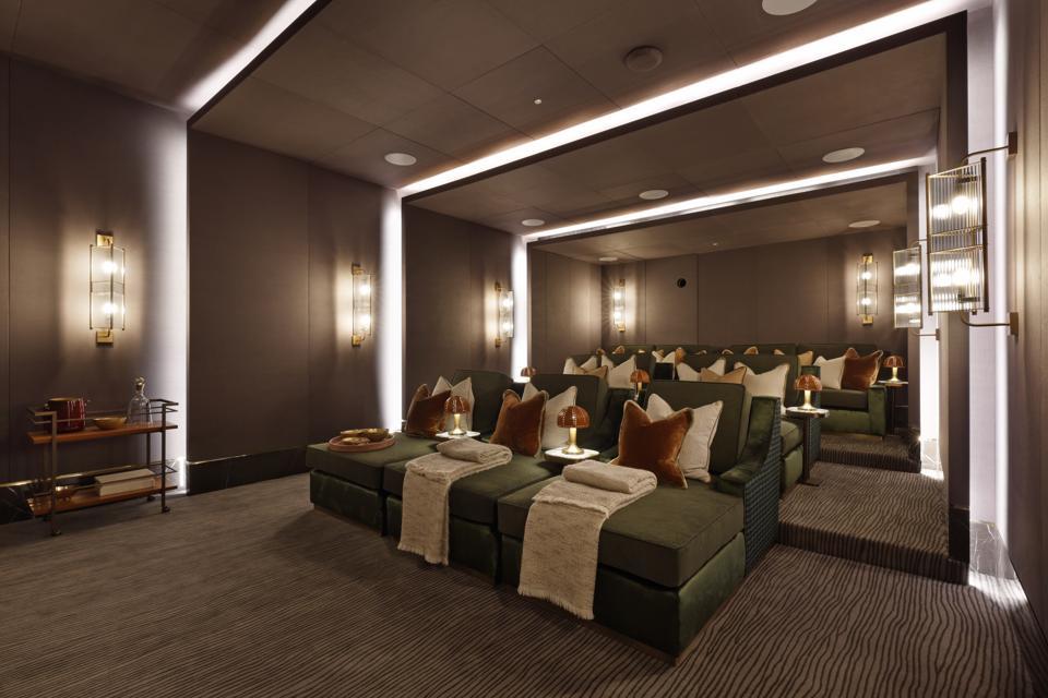 Cinema in the Garrison Club, Chelsea Barracks,