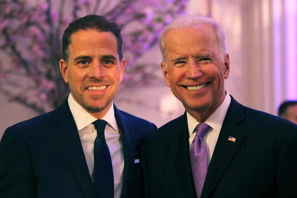 Hunter and Joe Biden.