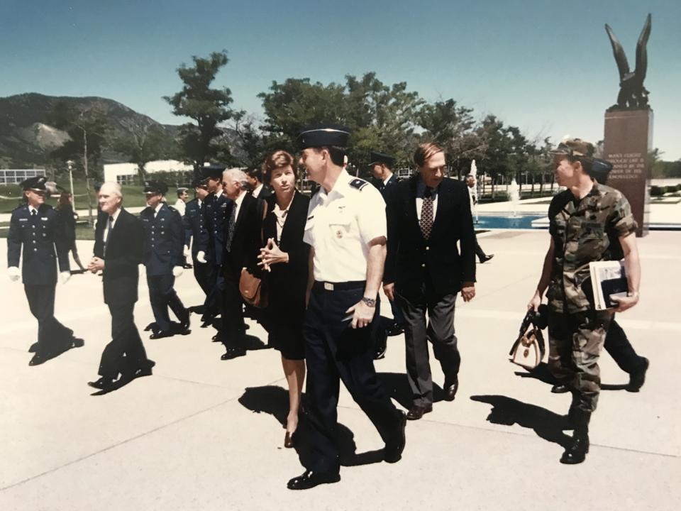 1997: Lynn Conway converses with Brig. Gen. Stephen R. Lorenz, ...