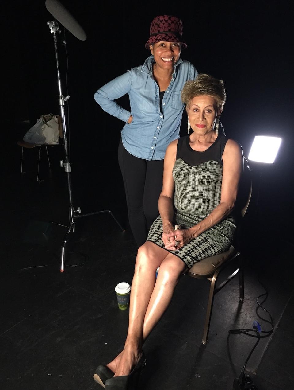 Luchina Fisher (standing) and Gloria Allen