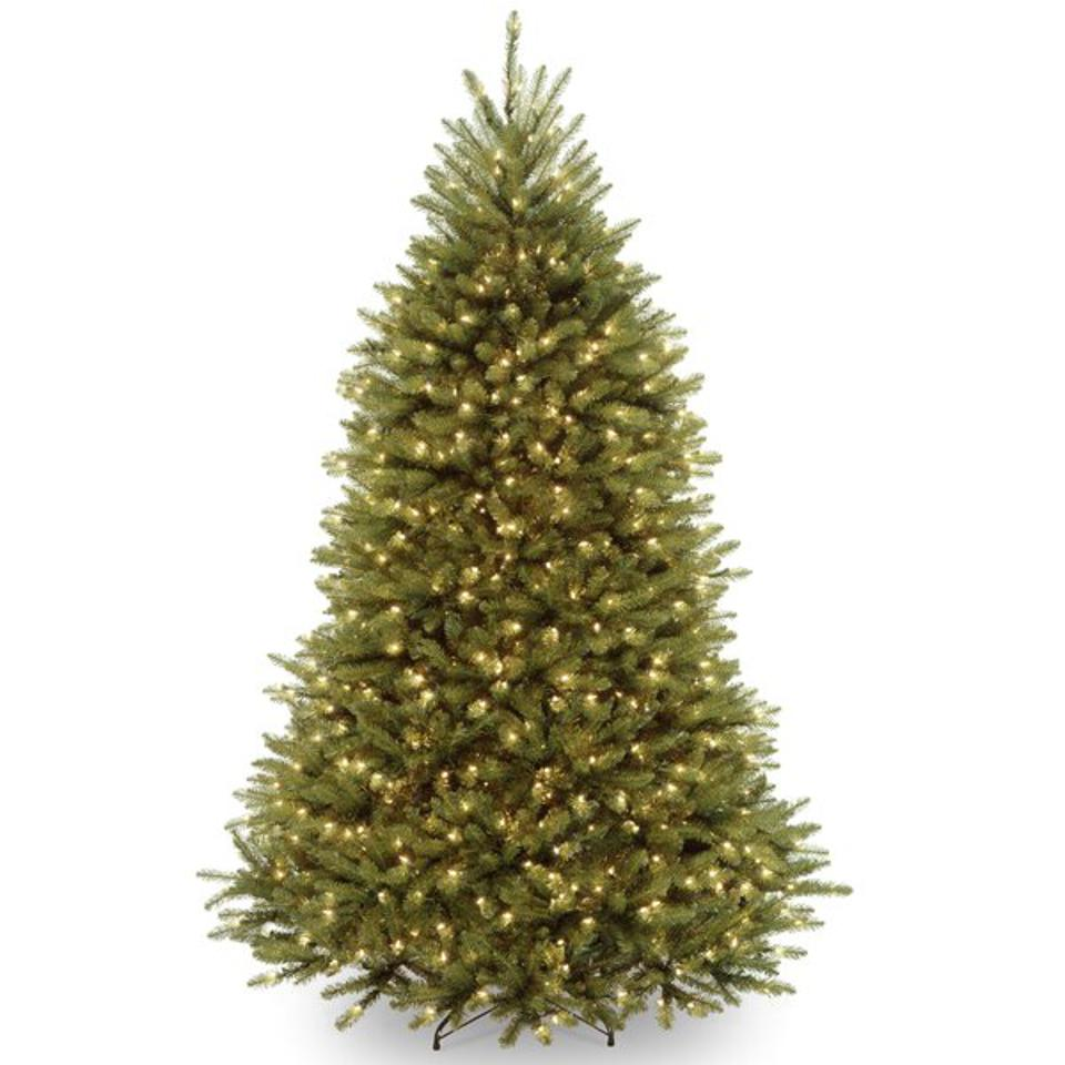 Dunhill Fir 7' Green Artificial Christmas Tree with 700 Clear/White Lights