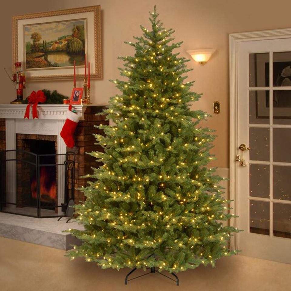 Greyleigh Nordic Spruce Green Spruce Artificial Christmas Tree with Clear/White Lights
