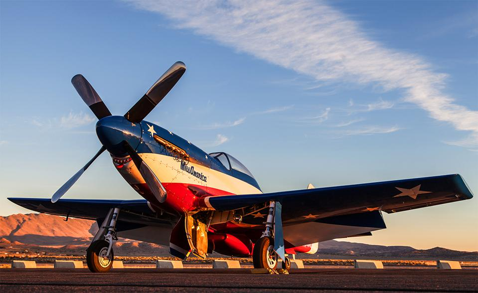 The renowned #11 Miss America P-51 Mustang racer.