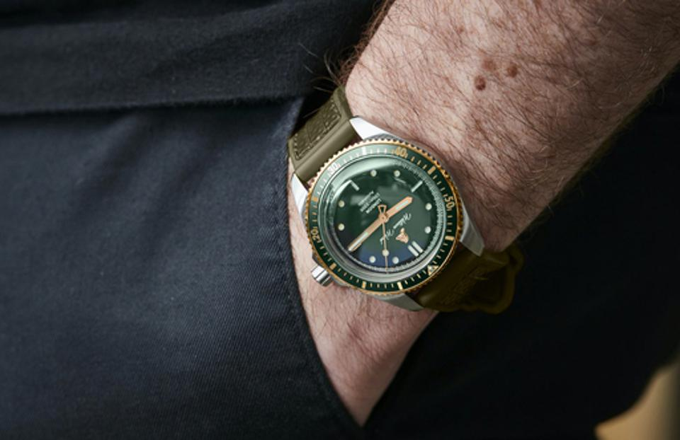 William Wood Valiant watches with recycled firehose straps.