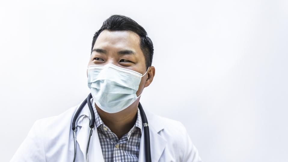 Studio portrait of doctor/healthcare worker