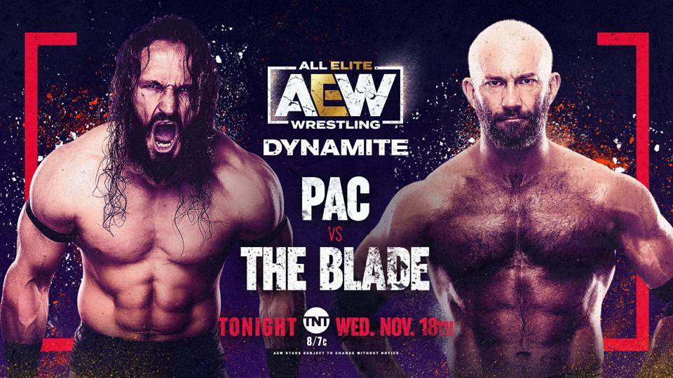 Pac faced Blade in his return match on AEW Dynamite.