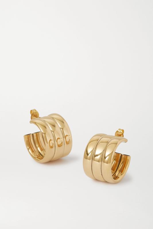 Laura Lombardi Gold Mini Grazia Hoop Earrings