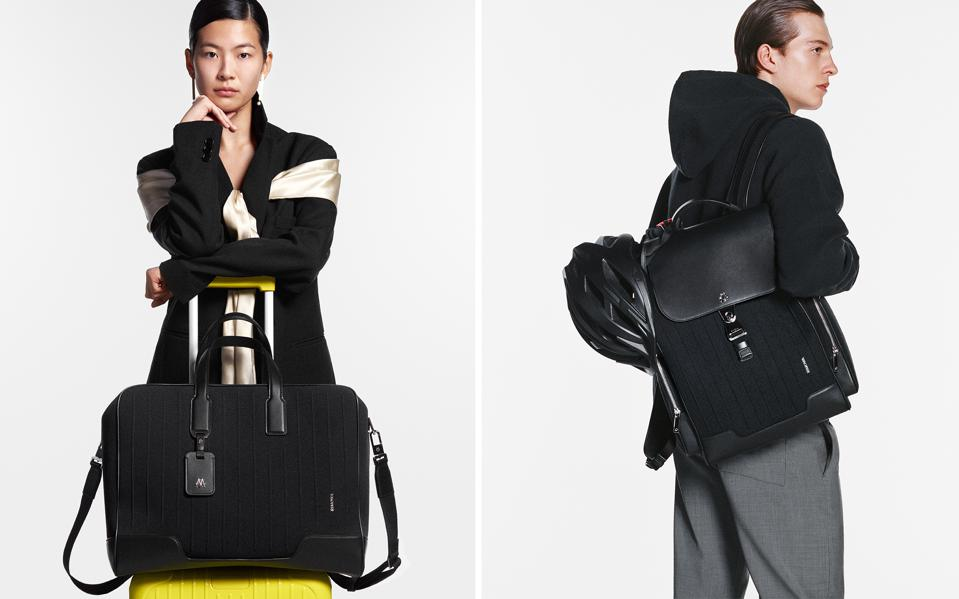 The 'Never Still' soft-luggage tote and backpacks become entry-level items for the German Maison.