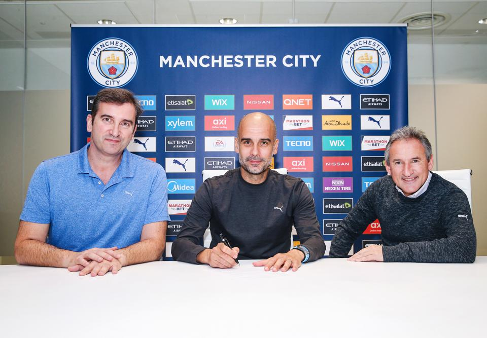 Pep Guardiola Signs a Contract Extension at Manchester City FC